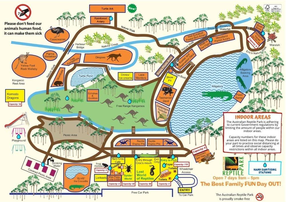 Australian Reptile Park Map